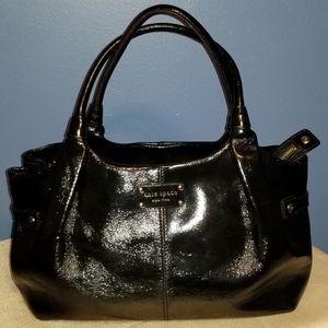 Kate Spade Uxbridge Stevie Black Patent Handbag
